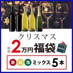 クリスマス福袋2万円(赤白泡ミックス5本) CF12-4 [750ml x 5]-0