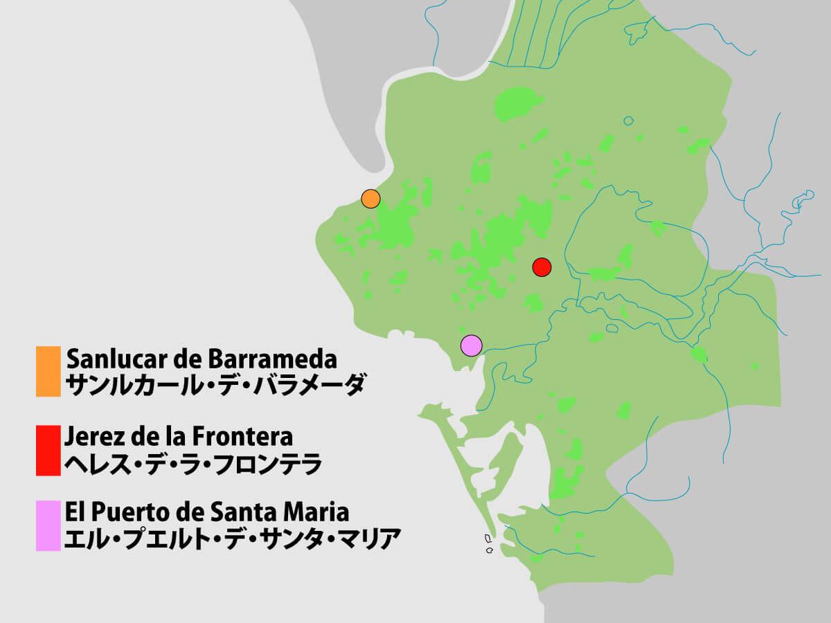シェリー 地図